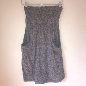 Express | Gray Strapless Dress w/ Pockets Size XS